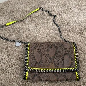 Stella McCartney python and neon bag